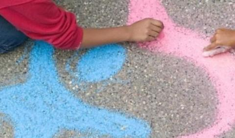 Raise Awareness for Child Abuse, Neglect by Chalking the Walk